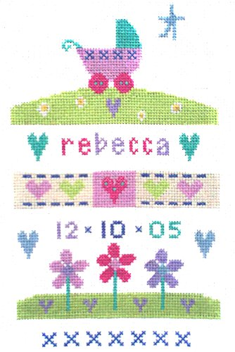 The Stitching Shed Baby Girl Sampler Cross Stitch Kit