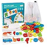 Coogam See Ortografía Aprendizaje Juguete Madera ABC Alfabeto Tarjetas Flash Forma a Juego Juegos de Letras Montessori Preescolar Stem Regalo Educativo Juguetes para niños pequeños