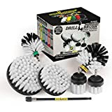 Drill Brush Ultimate Automotive Cleaning Kit with Extension - Truck Accessories - Glass, Upholstery, Seats, Window, Interior, Wheel, Carpet Cleaner - Car Mats - Spin Brush - Motorcycle Accessories