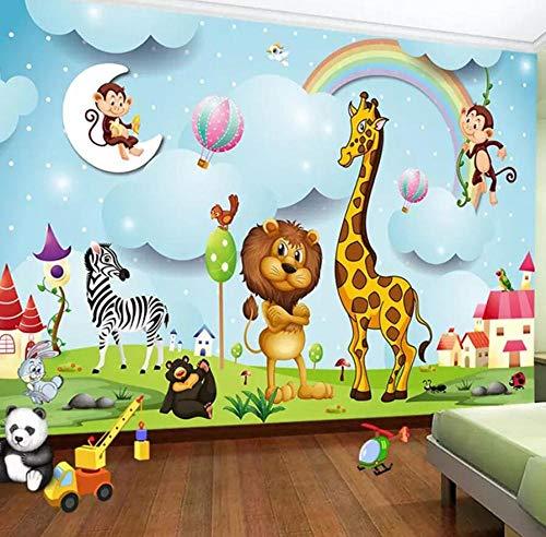 3D achtergrond 3D cartoon dier fotobehang jongens en meisjes kinderkamer achtergrond muurschildering Kid'S Wall Paper @ 300 * 210