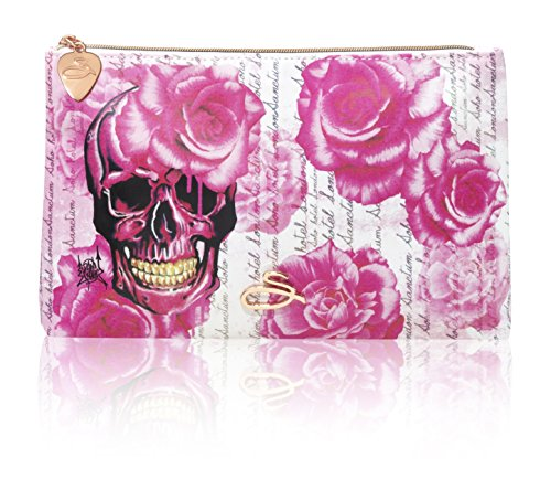 Sanctum Rose Skull Cosmetic Purse for Woman