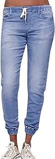Drawstring Plus Cropped Jeans Women Autumn Elastic Plus Loose Denim Tousers