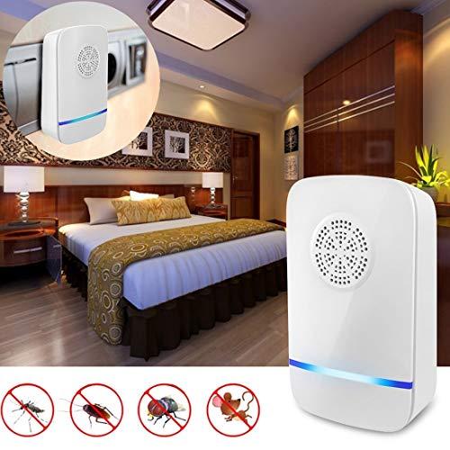 Warm Home Ultrasone muizen met 3 W ultrasone muggennet voor lampen, Amerikaanse stekker, 240 V, 9,8 x 5,8 x 2,8 cm. zomer.