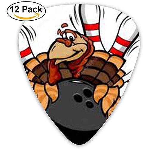 Bowling Turkey Xmas Holiday Plektren für E-Gitarre 12er Pack