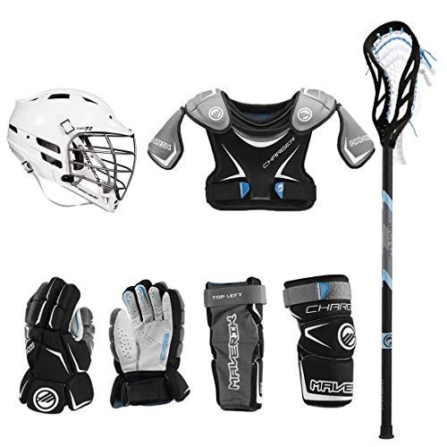 Lacrosse Unlimited Maverik Charger EKG Youth Starter Set W/Complete Stick (Cascade CPV-R) - Amazon-Youth-Medium