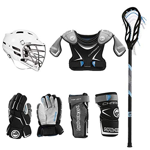 Lacrosse Unlimited Maverik Charger EKG Youth Starter Set W/Complete Stick (Cascade CPV-R) (Youth...