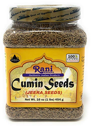 Rani Cumin Seeds Whole (Jeera) Spice 16oz (454g) 1lb PET Jar ~ All Natural | Gluten Friendly Ingredients | NON-GMO | Vegan | Indian Origin