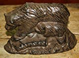 Cast Iron Black Bear Statue Brown Bears Paper Weight Garden Rustic Door Stop