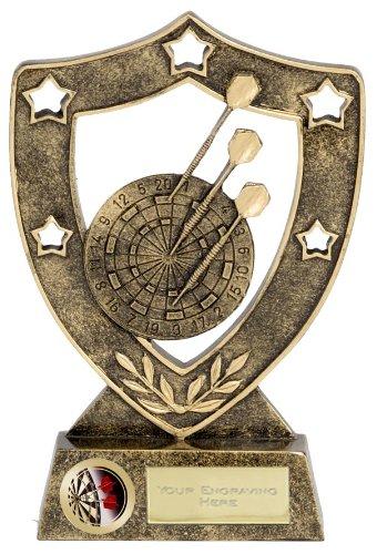 15,2cm shieldstar Darts Trophy mit gratis Gravur bis zu 30Buchstaben n01018b/G