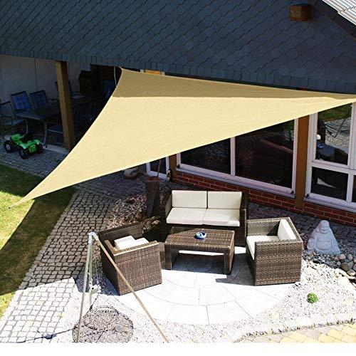 sdfnj Dreieckig Gebogenes Sonnensegel, Wärmeisolierendes Sonnenschutznetz Und Wasserdichtes Tuch,Schattierungsgewebe Im Freien, Gartenhaus Dreieckig Im Innenhof(Größe:2mX2mX2m-5mX5mX7m)