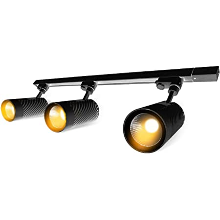 4000K 24/°Beam Angle,1000 Lumens Matte Black 120 Volts Easy Installation Glide 4-LED Track Lighting