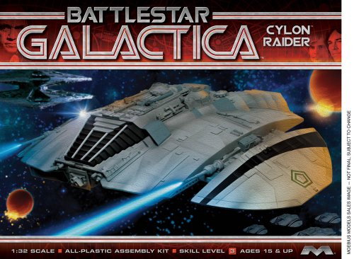 Moebius Kit Battlestar Galactica Classic Cylon Raider à l'échelle 1/32
