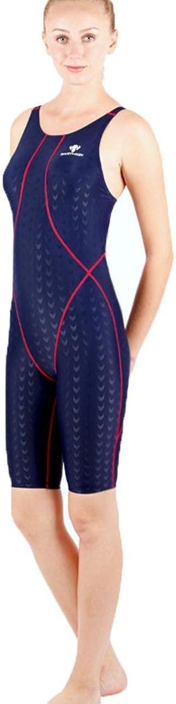 L@YC New Women Competitive Swimsuits Endurance Open Back Swimming Costume Legsuit One Piece, B, XXL