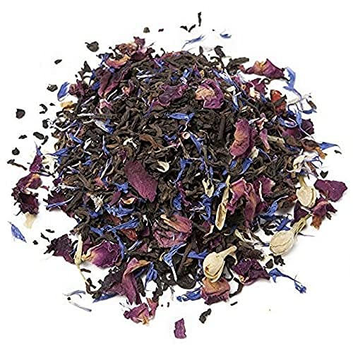 Aromas de Té - Té Rojo Pu Erh Tibetano - Digestivo y Aromático - Activador de Mente - Con Goji, Rosas, Aciano, Jazmín y Aromas Naturales - Muy Sabroso - Ecológico - Sin Gluten - 50 gr
