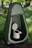 Hillington Lightweight and Portable 5L Camping Toilet with Instant Pop Up Privacy Tent – Toilet Complete with Seat, Lid, Handles and Roll Holder