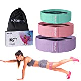 Hurdilen Resistance Bands Loop Exercise Bands,Workout Bands Hip Bands Wide Resistance Bands Hip Resistance Band for Legs and Butt,Activate Glutes and Thigh (Pink,Light Purple,Green)