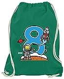 Hariz - Bolsa de deporte con diseño de astronauta, verde (Verde) - AchterGeburtstag01-WM110-5-1