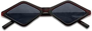 Ultra Sleek Summer Bright Vintage Diamond Shape Street Fashion Narrow Style Sunglasses