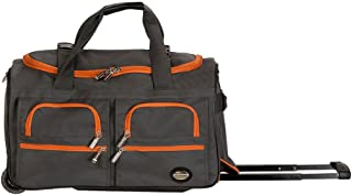 Luggage 22 Inch Rolling Duffle Bag, Charcoal, One Size