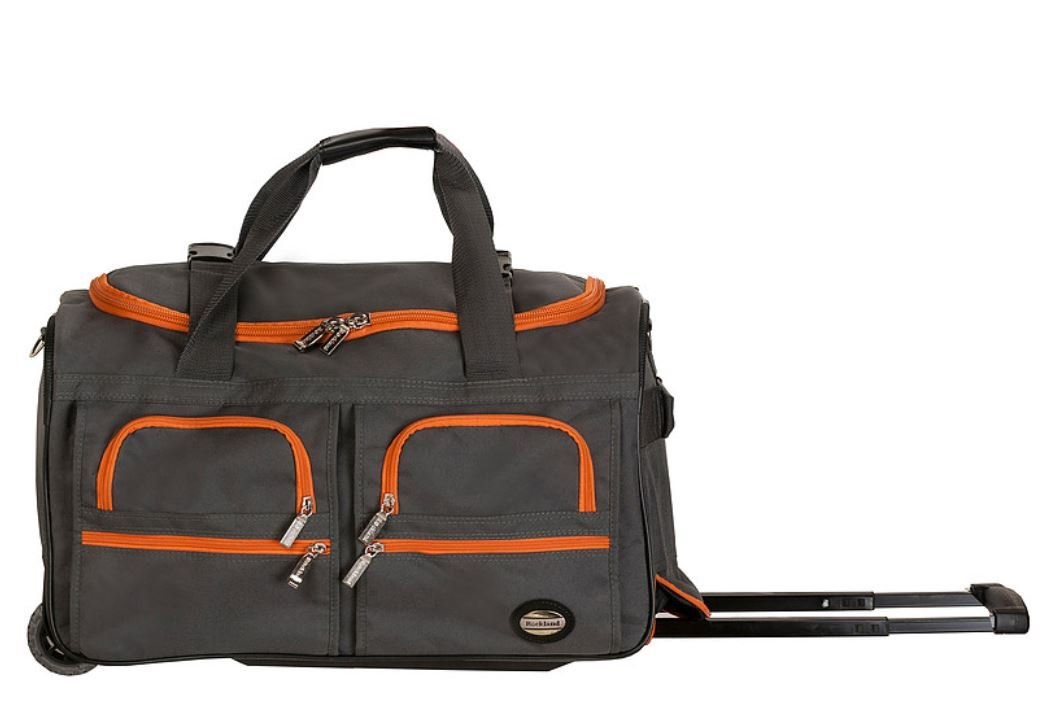 Rockland Luggage Rolling Duffle Charcoal