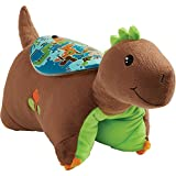 Pillow Pets Sleeptime Lites Brown Dinosaur Stuffed Animal Plush Night Light