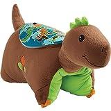 Pillow Pets Sleeptime Lites Brown Dinosaur Stuffed Animal Plush Night Light