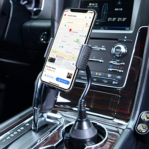 3-in-1 Car Mount, Amoner Cigarette Lighter Cell Phone Holder with Dual Port USB Charger, Adjust Gooseneck and 360° Rotation Compatible iPhone 11 X 8, Galaxy S9 S8, Mate20 P30, GPS and More