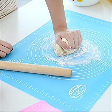 Davias Extra Large Silicone Baking Mat for Pastry Rolling with Measurements Pastry Rolling Mat, Reusable Non-Stick Silicone Baking Mat