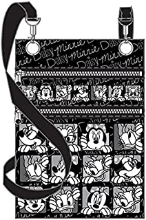 Minnie Mouse & Daisy Duck Funny Faces Passport Holder Black