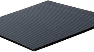 Falken Design COR-BK-4MM/2448 Coroplast Sign Board, Corrugated Fluted Plastic Sheet 4mm (0.157