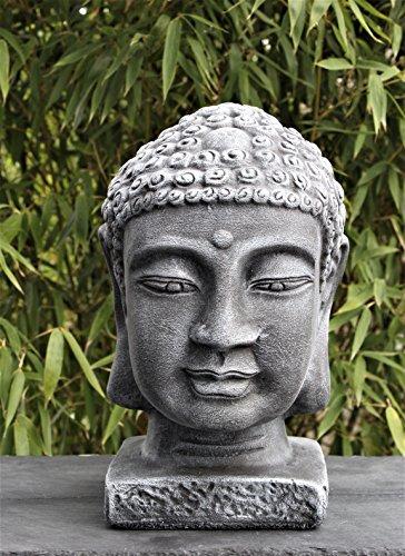 Buddha Kopf groß aus Steinguss