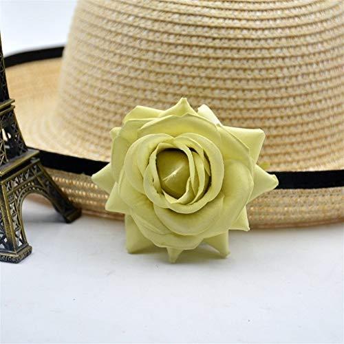 SOQHD Künstliche Blumen Rose Blüte Hochzeit Dekoration Startseite (Color : Yellow)