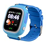 Smartwatch for Kids Girls Boys AVSV GPS Tracker SIM Calls Anti Lost Phone Pedometer SOS Route Tracker Touch Screen Geo Fence Smartwatch Bracelet for iPhone Android (Sim Card Required, not Included)