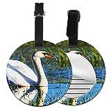 Etiquetas para Equipaje Bolso ID Tag Viaje Bolso De La Maleta Identifier Las Etiquetas Maletas Viaje Luggage ID Tag para Maletas Equipaje Aviar Cisne Mudo Nadando