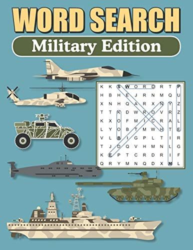 Word Search – Military Edition: Large Print Word Find Puzzles For Adults