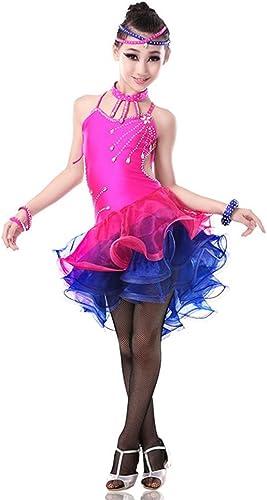 GBDSD Latin vêtements Enfants Femme Sue Jupes Latin compétitions pour Robe de Danse de Salon Adultes Enfants et vêtements de Danse, rouge, S