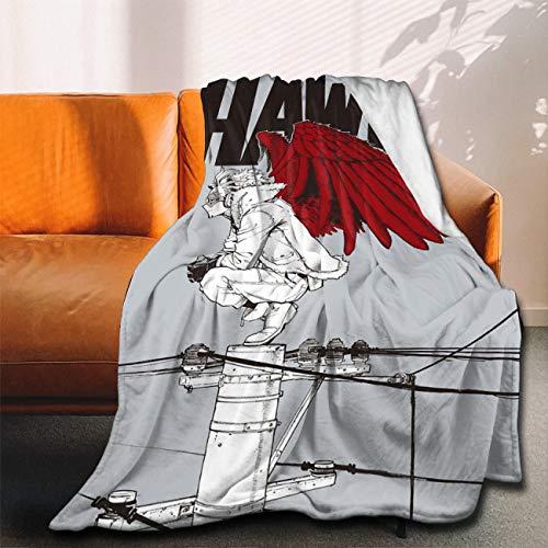ANNBITION My Hero Academia Collage Anime BNHA Hawks - Manta de franela ultra suave, manta de forro polar de microfibra duradera, decoración del hogar, perfecta para sofá, cama, 152 x 127 cm