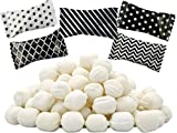 Black & White Assorted Buttermints, Mint Candies, After Dinner Mints, Butter Mint Candy, Fat-Free, Kosher Certified, Individually Wrapped (100 Pieces)