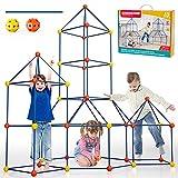 Lucky Doug 162 Pieces Kids Fort Building Kit,...