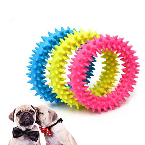 HJSS New Rubber Dog Toy with Biting Rubber Ring Molar Teeth pet Dog Toy Dog bite wear-Resistant Teeth Training