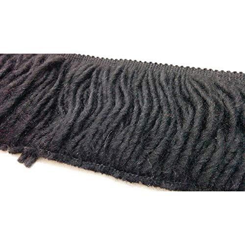 TOMASELLI MERCERIA Frankrijk sjaal sjaal van zwarte wol 10 cm hoog