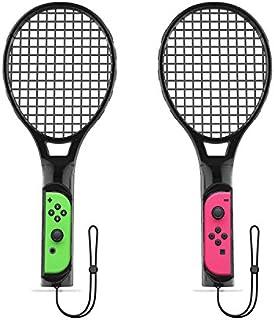MiSha Nintendo Switch Joy-Con専用 ラケット型アタッチメント テニスラケット マリオテニスエース適用 全てのテニスゲームに対応可能 2個セット 軽量ABS製 精確対応 高感度 臨場感