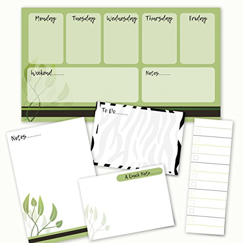 Nature Notes Adhesive Sticky Note Pack - 5 pads - 50 sheets/pad