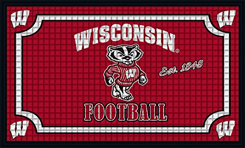 Team Sports America 41EM984 Wisconsin Embossed Door Mat, Multicolor