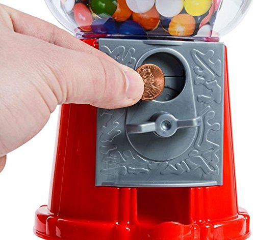 Dubble bubble 85quot classic style coin operated gumball bank include 45 gumballs
