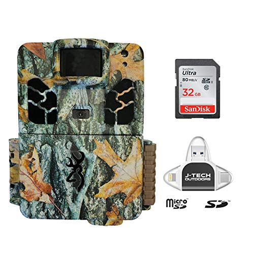 Browning Dark Ops HD PRO X 2019 Trail Game Camera (20MP) with 32GB Memory Card and J-TECH iPhone/iPad/Android USB Memory Card Reader | BTC6HDPX (Best Hd Android Games 2019)