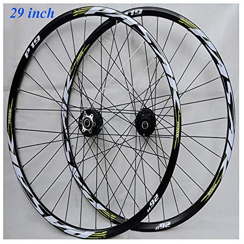 29 pouces Vélo de montagne Paire roues,Vert VTT double paroi Moyeu alliage aluminium Jante Frein...