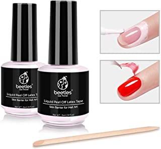 Beetles Latex Liquid Nail Simple Peel Off Cuticle Guard for Nail Art Liquid Latex Barrier Protector 15ml Pink