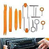 Fixinus 12 Pieces Premium Auto Pry Tool Kit - Auto Repair Removal Install Tools for Door Trim Panel Dash Stereo Radio Interior Light Clip