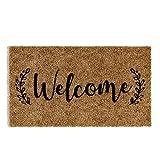 "Barnyard Designs 'Welcome' Doormat, Indoor/Outdoor Non-Slip Rug, Front Door Welcome Mat for Outside Porch Entrance, Home Entryway Farmhouse Decor, 30' x 17"""